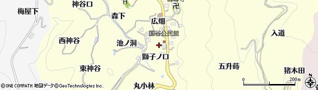 愛知県豊田市国谷町(獅子ノ口)周辺の地図