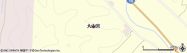 兵庫県丹波篠山市大山宮周辺の地図