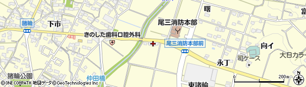 愛知県愛知郡東郷町諸輪仲田周辺の地図