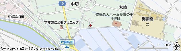 愛知県弥富市六條町大崎周辺の地図