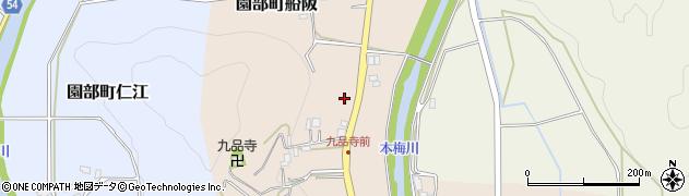 京都府南丹市園部町船阪(大門)周辺の地図