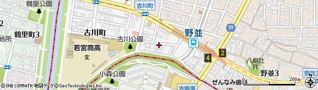愛知県名古屋市天白区古川町周辺の地図