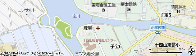 愛知県弥富市子宝町周辺の地図