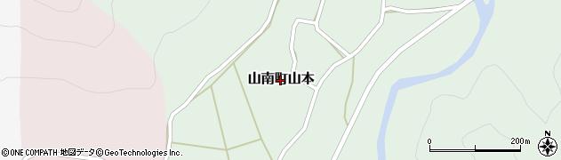 兵庫県丹波市山南町山本周辺の地図