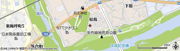 愛知県豊田市荒井町(松島)周辺の地図