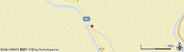 愛知県北設楽郡東栄町振草上粟代杉下周辺の地図