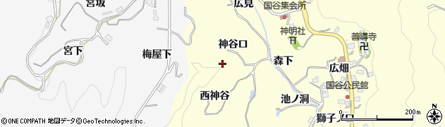 愛知県豊田市国谷町(神谷口)周辺の地図