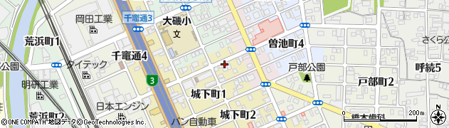 食道園周辺の地図