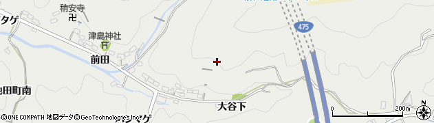 愛知県豊田市池田町(大谷下)周辺の地図