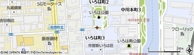 愛知県名古屋市港区いろは町周辺の地図