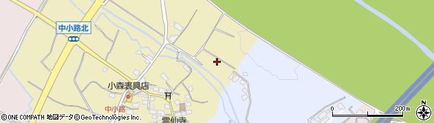 滋賀県東近江市中小路町周辺の地図
