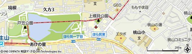 愛知県名古屋市緑区久方周辺の地図