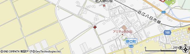 滋賀県東近江市野口町周辺の地図