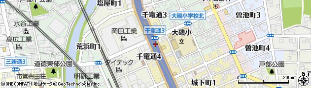愛知県名古屋市南区千竃通周辺の地図