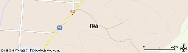 兵庫県丹波篠山市打坂周辺の地図