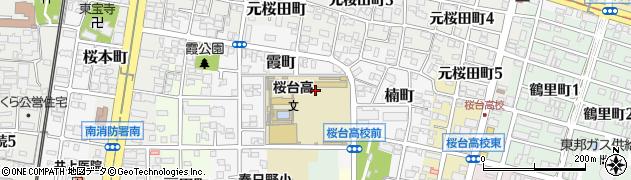 愛知県名古屋市南区霞町周辺の地図