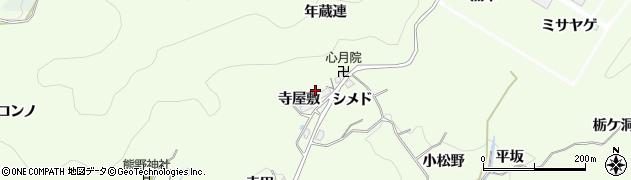 愛知県豊田市則定町(年蔵連)周辺の地図
