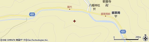 愛知県北設楽郡東栄町振草上粟代今水周辺の地図