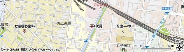 静岡県沼津市本(下中溝)周辺の地図