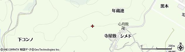 愛知県豊田市則定町(寺屋敷)周辺の地図