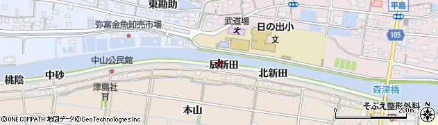 愛知県弥富市中山町辰新田周辺の地図