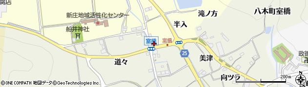 京都府南丹市八木町船枝(半入)周辺の地図