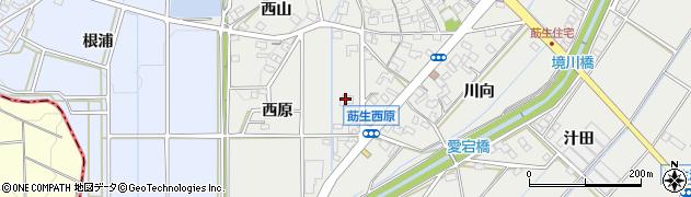 愛知県みよし市莇生町(西原)周辺の地図