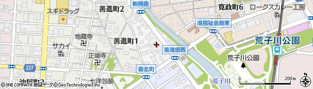 愛知県名古屋市港区善北町周辺の地図