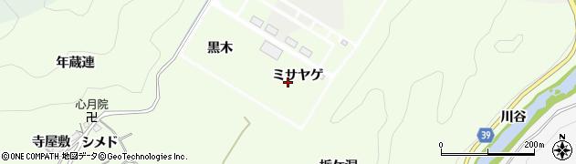 愛知県豊田市則定町(ミサヤゲ)周辺の地図