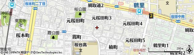 愛知県名古屋市南区元桜田町周辺の地図