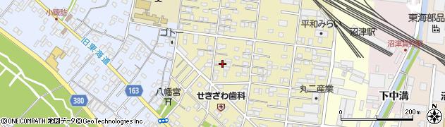 静岡県沼津市西間門周辺の地図
