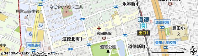 愛知県名古屋市南区道徳北町周辺の地図