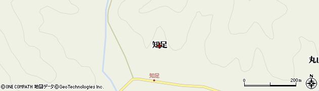 兵庫県丹波篠山市知足周辺の地図