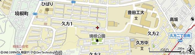 愛知県名古屋市天白区久方周辺の地図