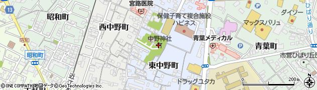 中野神社周辺の地図
