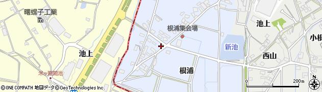 愛知県みよし市福谷町(根浦)周辺の地図