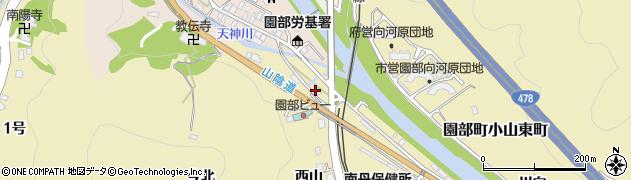 京都府南丹市園部町小山東町(平岩)周辺の地図