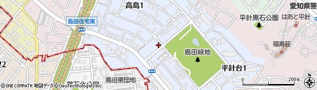 愛知県名古屋市天白区高島周辺の地図