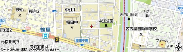 愛知県名古屋市南区中江周辺の地図