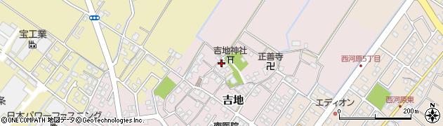 滋賀県野洲市吉地周辺の地図