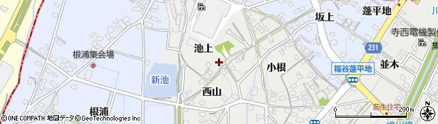 愛知県みよし市莇生町(池上)周辺の地図