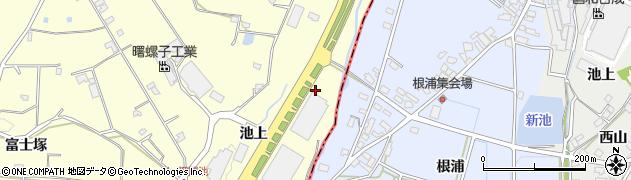 愛知県愛知郡東郷町諸輪池上周辺の地図