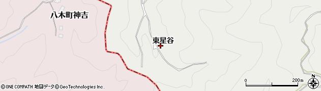 京都府京都市右京区京北細野町(東星谷)周辺の地図