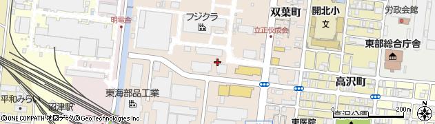 静岡県沼津市双葉町周辺の地図