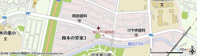 滋賀県大津市仰木の里東周辺の地図