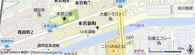 愛知県名古屋市港区本宮新町周辺の地図