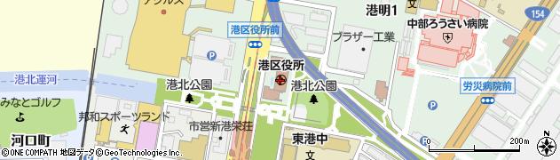 愛知県名古屋市港区周辺の地図