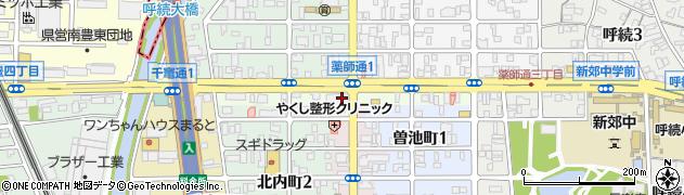 愛知県名古屋市南区薬師通周辺の地図