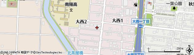 愛知県名古屋市港区大西周辺の地図