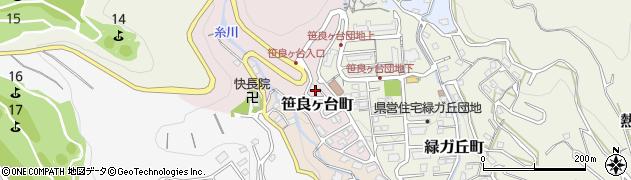 静岡県熱海市笹良ヶ台町周辺の地図